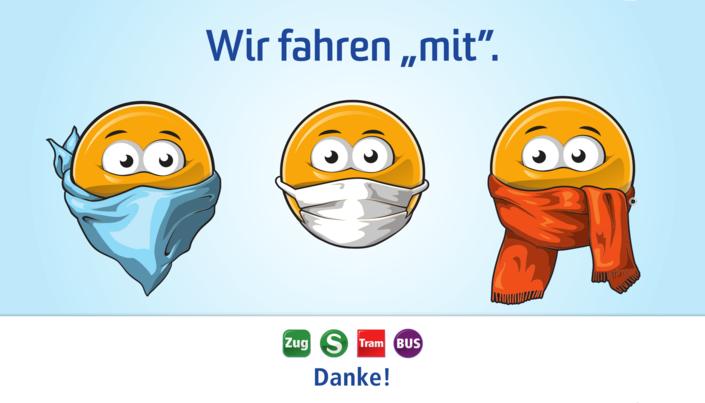 Kampagnengrafik Wir fahren mit - Mitteldeutscher Verkehrsverbund